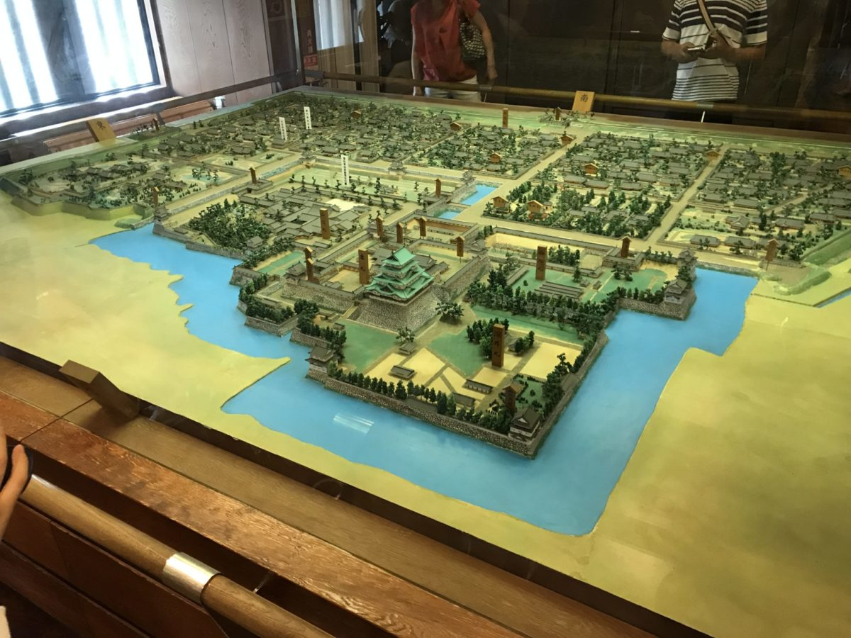 名古屋城下町のジオラマ