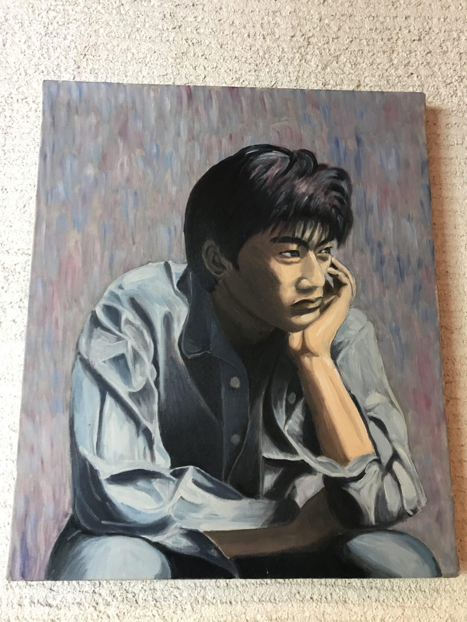 ひimagineにある尾崎豊の肖像画