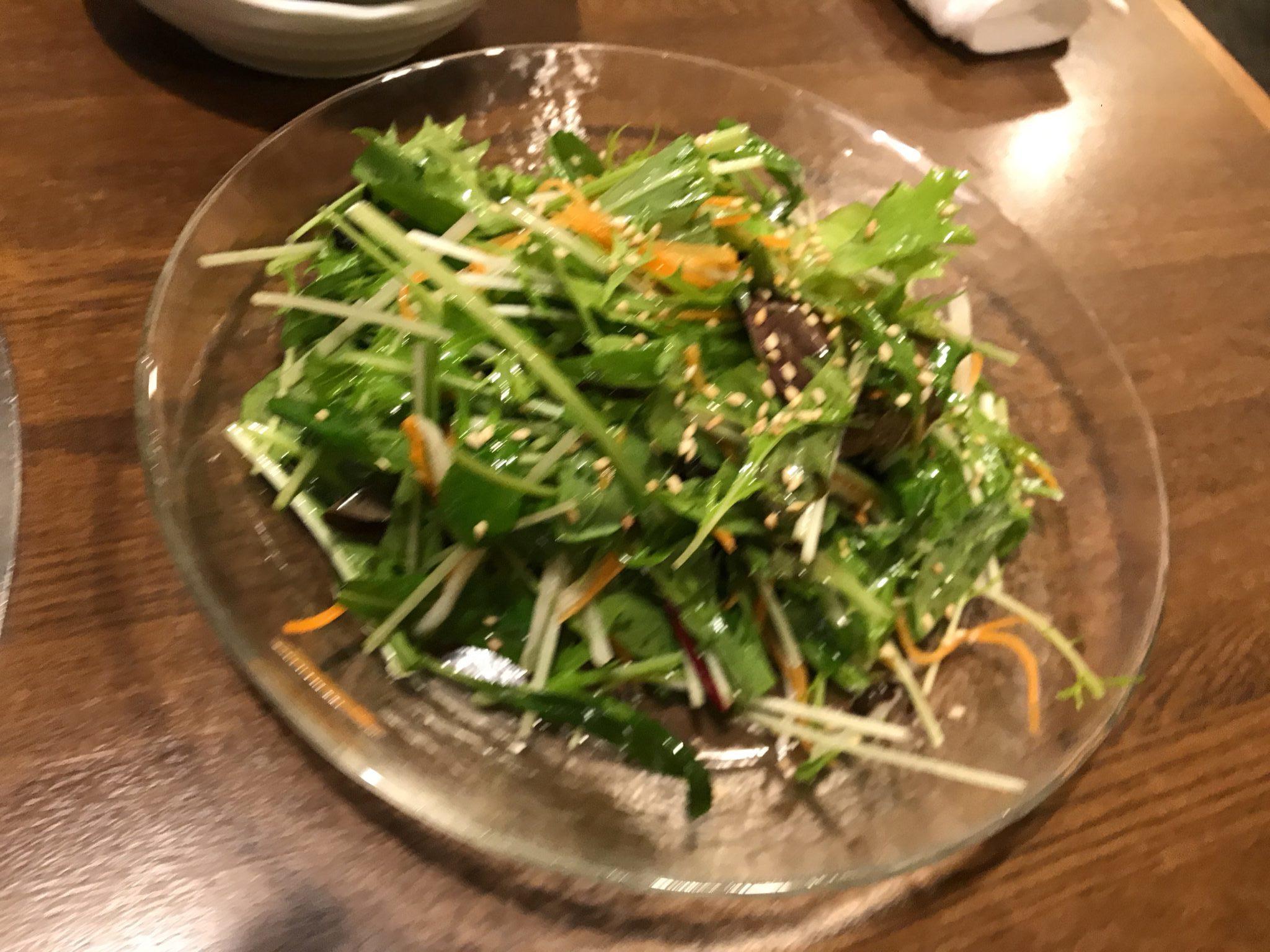 塩こんぶのチョレギ風サラダ