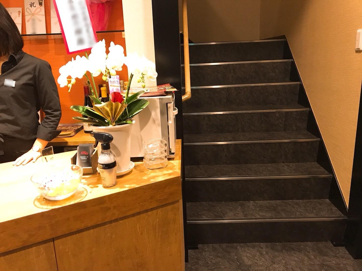 こいのぼり玉島長尾店内階段