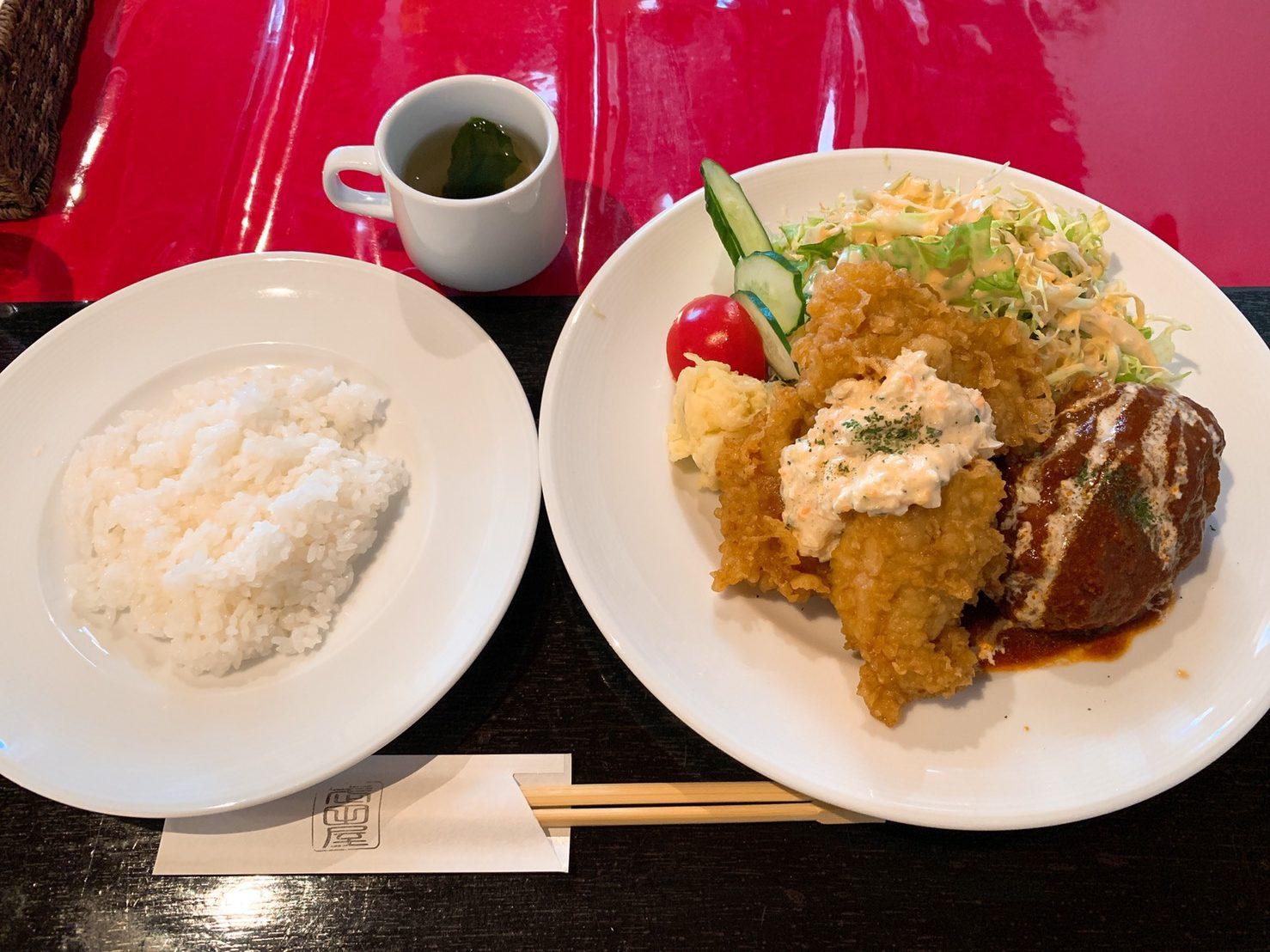 武田屋セット(煮込みハンバーグ・チキン南蛮ハーフ)