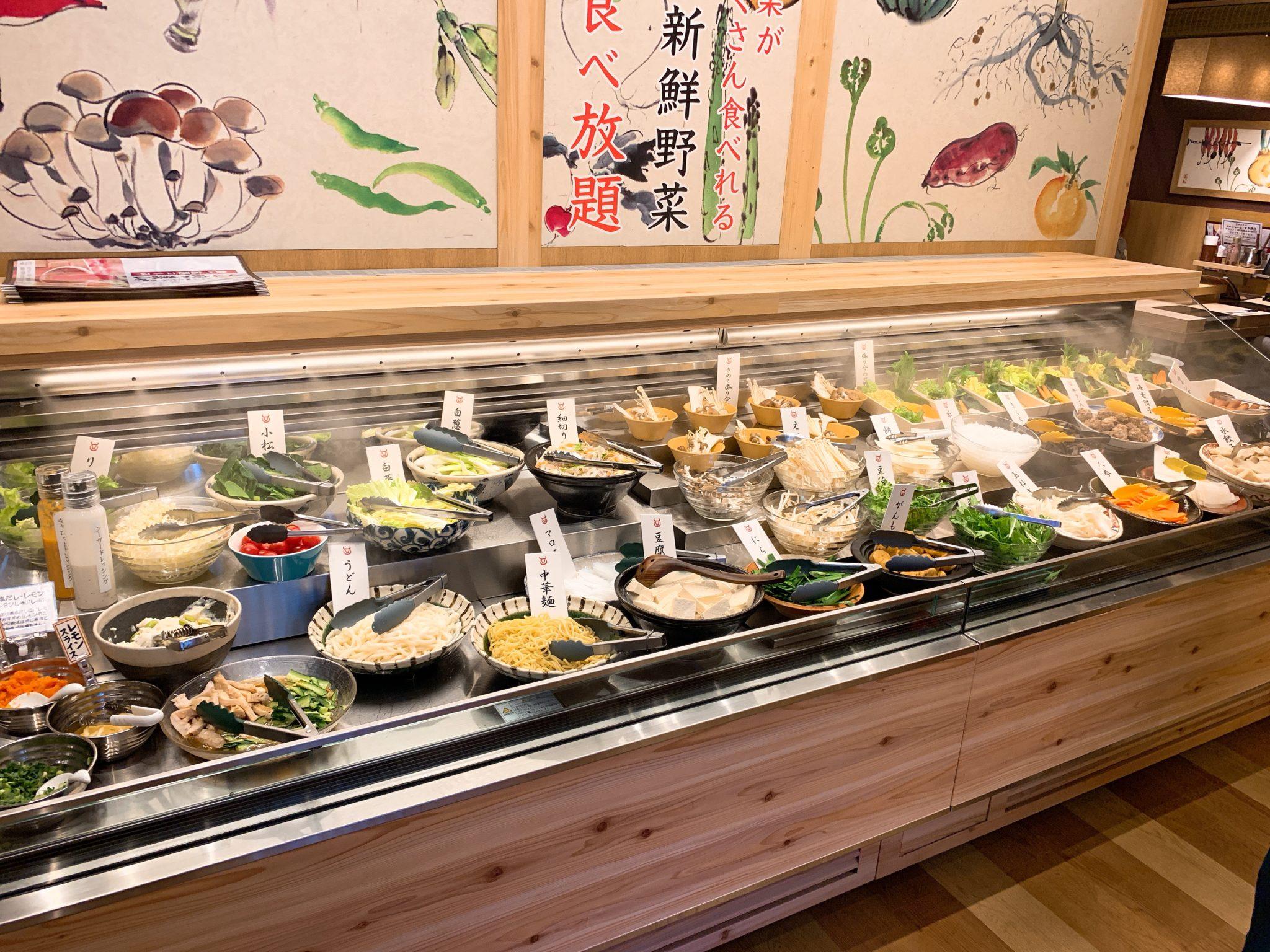 肉の美山水島店野菜ブッフェ
