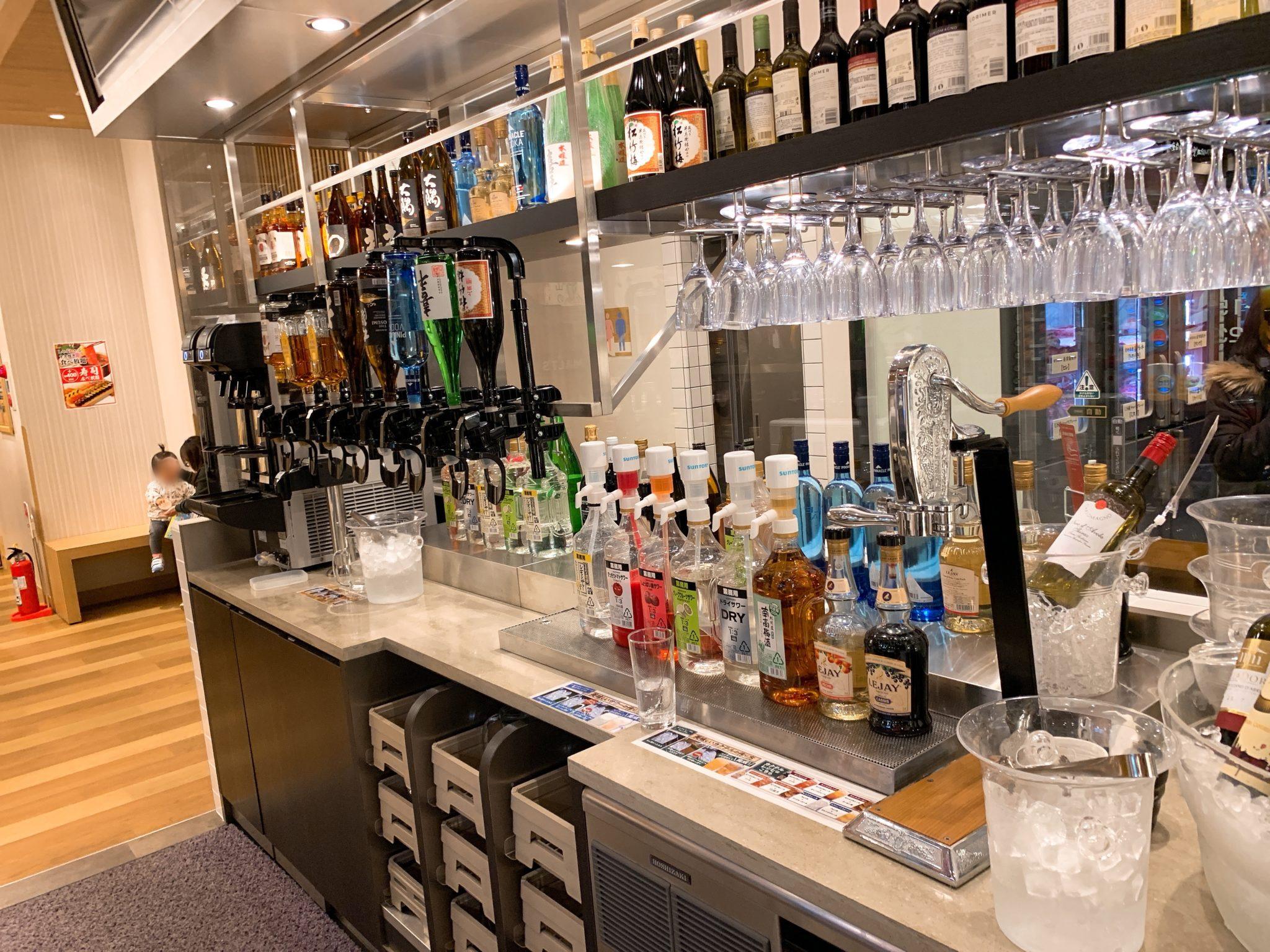 肉の美山水島店アルコールコーナー
