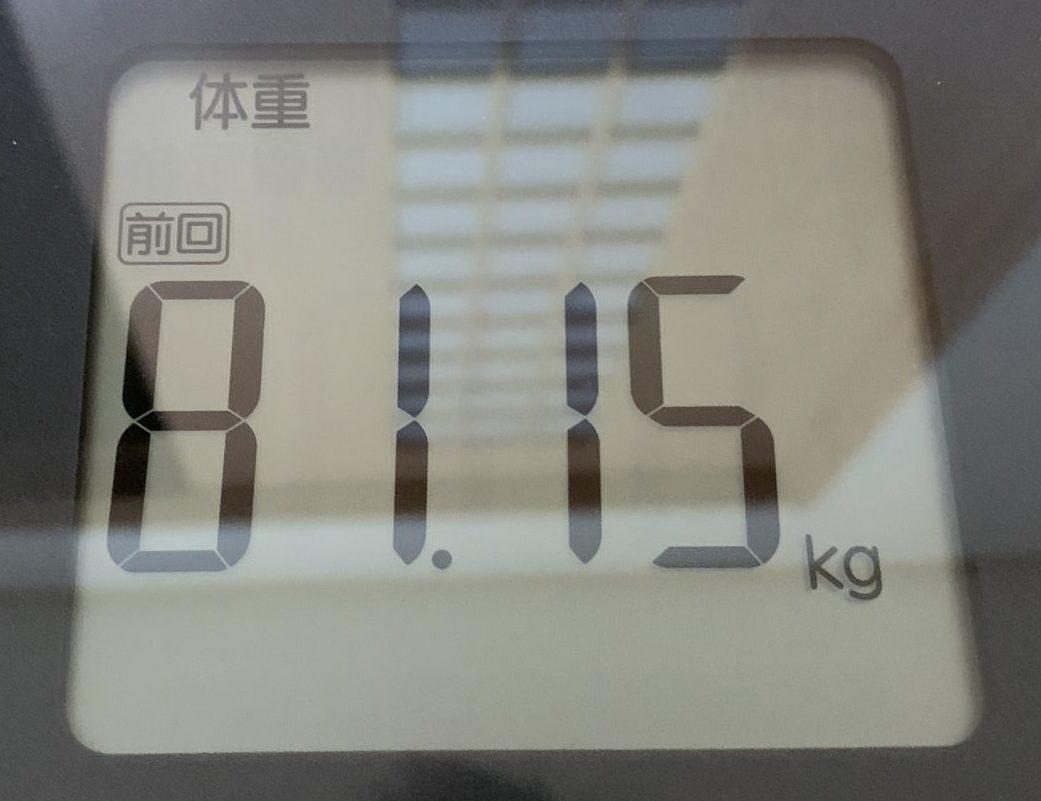 TANITA体重81.15kg
