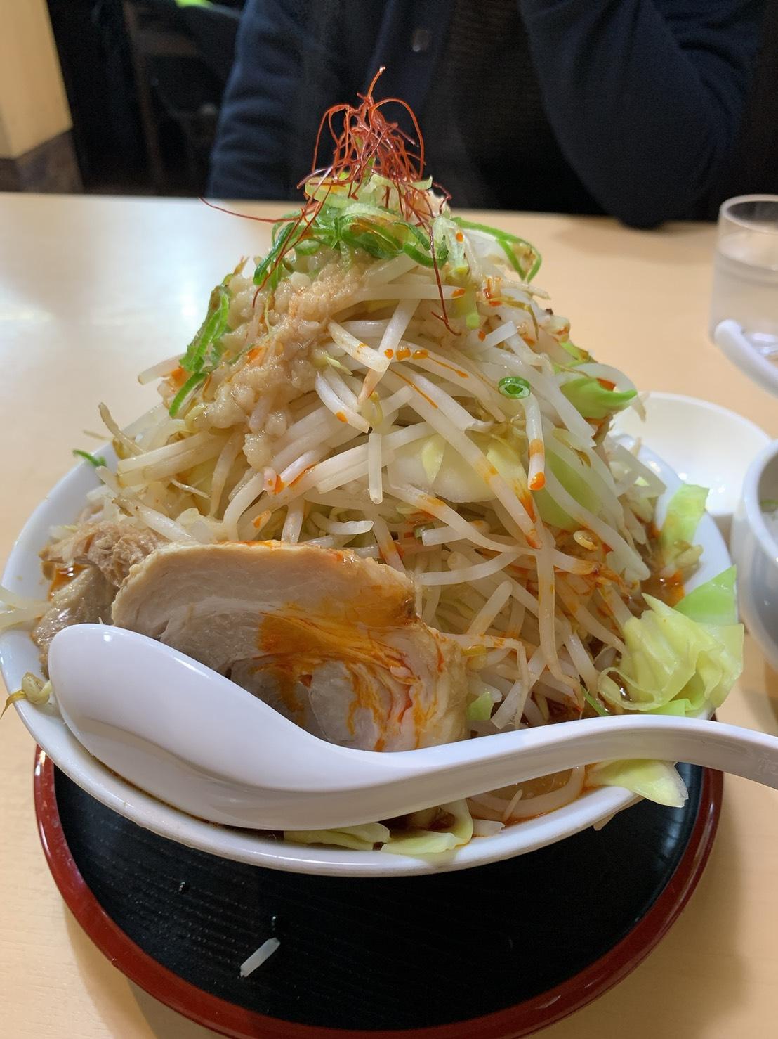 食楽の魔王ラーメン野菜4倍