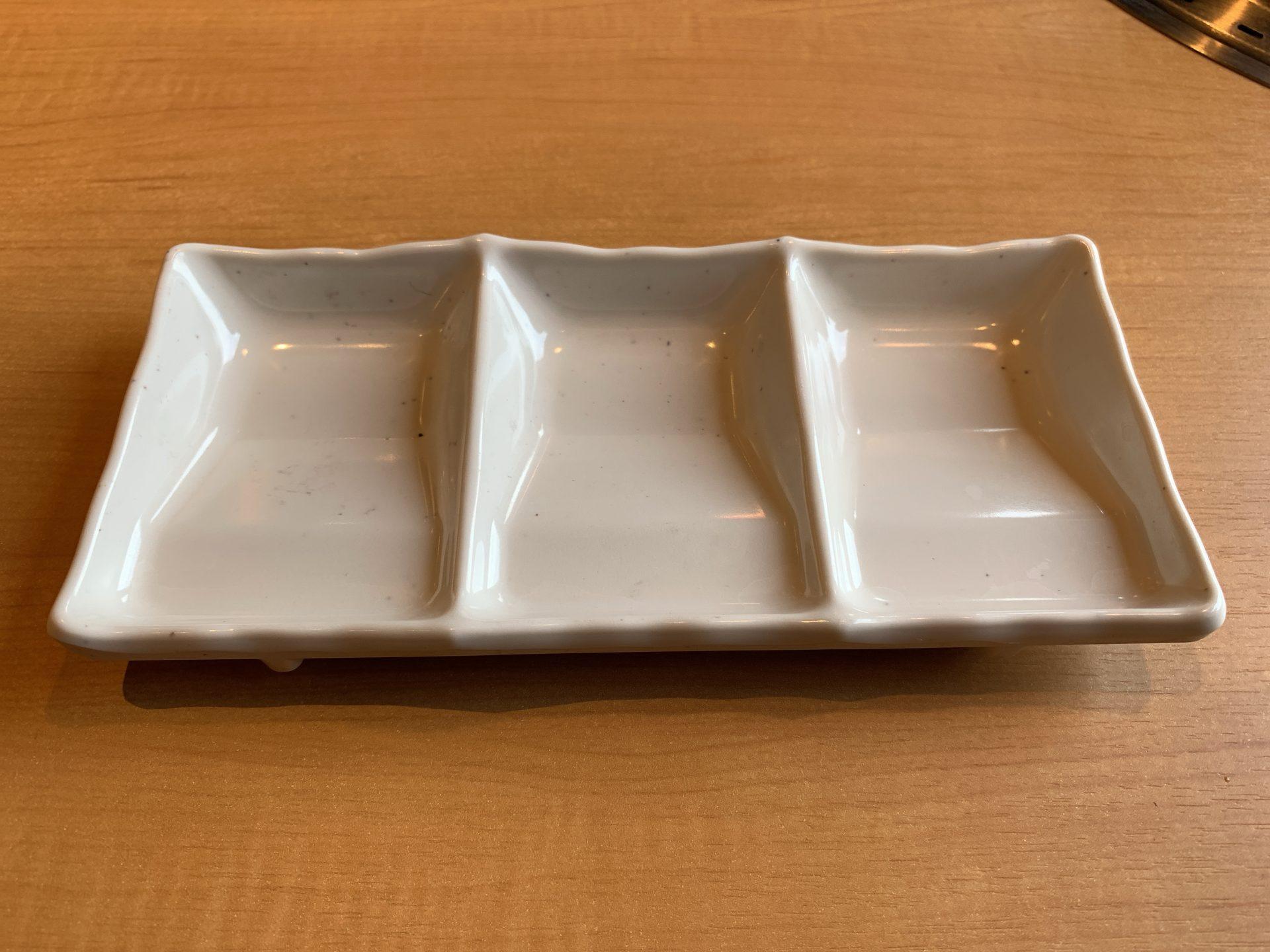 焼肉きんぐ倉敷沖店のタレの器