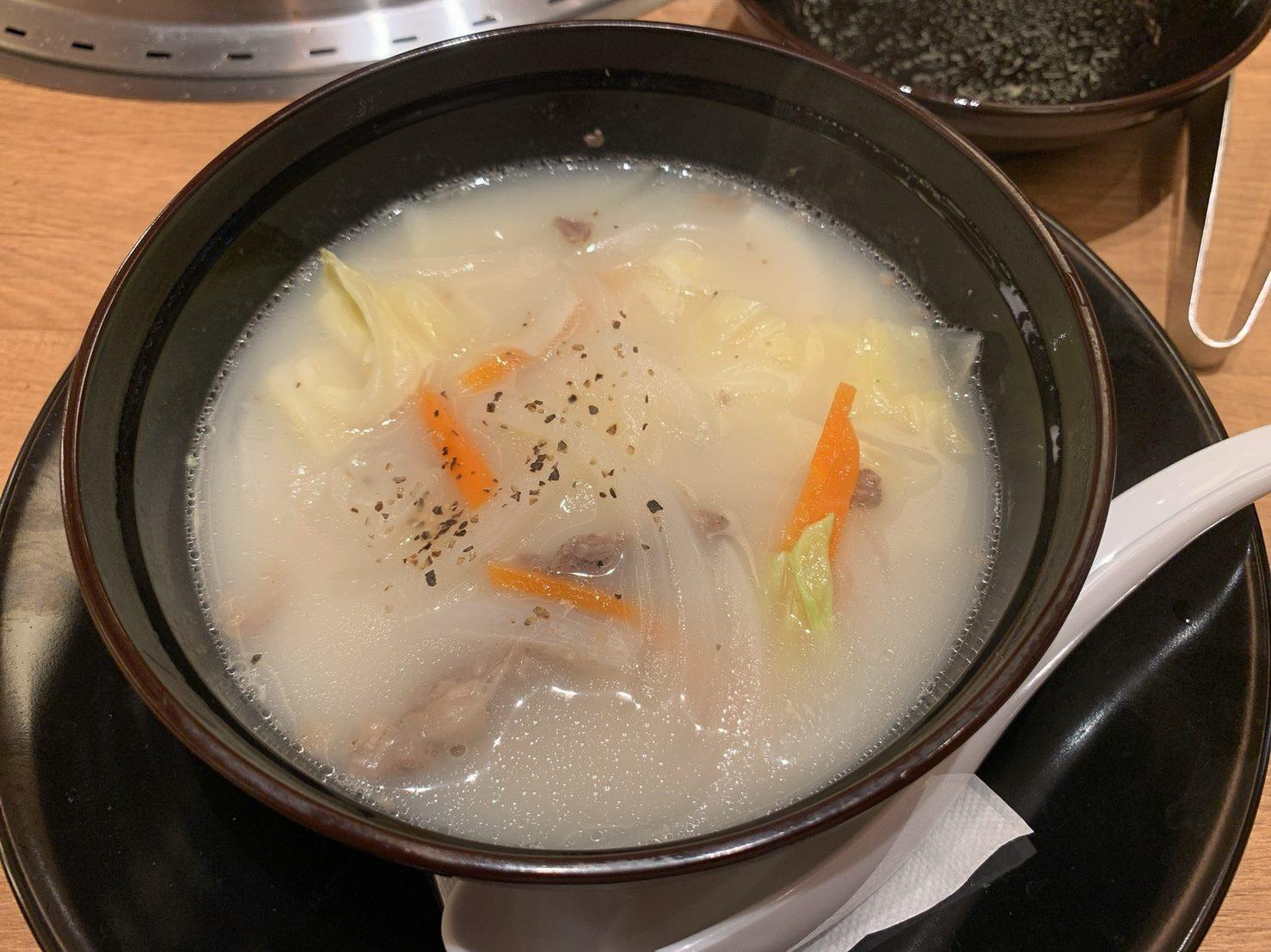 焼肉まるいコムタンスープ